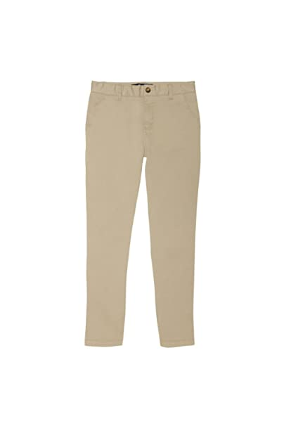 44cbad24a0 French Toast Boys' Adjustable Waist Stretch Straight Fit Chino Pant  (Standard & Husky)