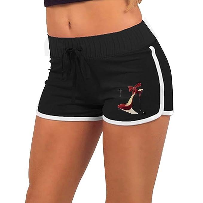 Amazon.com: Pantalones cortos de yoga para mujer, color rojo ...