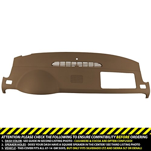 DashSkin Molded Dash Cover Compatible with 07-14 GM SUVs w/Dash Speaker in Cashmere -