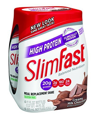 SlimFast Ready to Drink Bottles, High Protein Creamy Milk Chocolate Meal Replacement Shake, 11-Ounces, 4 Count (Pack of 6) by Slimfast by Slim-Fast