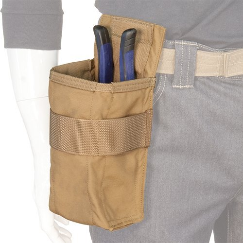 Atlas 46 AIMS Vertical Fastener Pouch with Plier Sheath, Coyote | Hand crafted in the USA by Atlas 46