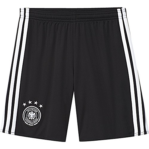 adidas Kinder Trikot UEFA EURO 2016 DFB Heimshorts Replica, schwarz/weiß, 152, AA0145