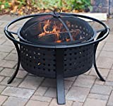 The Kindred Backyard Fire Pit Round 30'' Diameter (22'' Fire Bowl) Heavy Duty Steel Outdoor Fire Pit