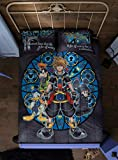 Hot Topic Disney Kingdom Hearts Stained Glass Full/Queen Comforter
