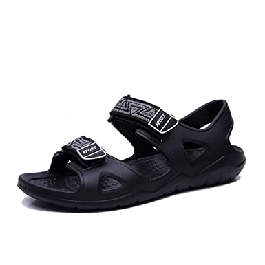a2467b588746 Amazon.com: Men Velcro Sandals - POHOK Summer Outdoor Mens Flats ...