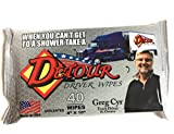 Detour Driver Wipes - Alcohol Free, Hypoallergenic, and Paraben-Free Shower Wipes - Camping, Hiking, Truck Driver, Emergency Responders, and Traveling All-Purpose Body Wipes for Adults (40 count)