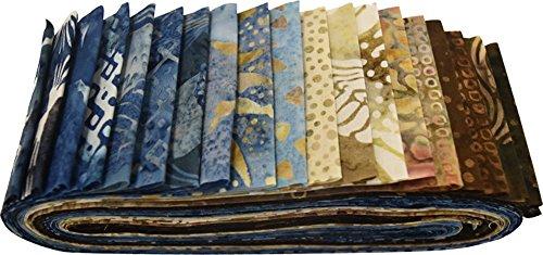 Hoffman Bali Batik Quilt Fabric (Bali Batiks Beachsand Bali Poppy 20 2.5-inch Strips Jelly Roll Hoffman Fabrics BPP-544-Beachsand)