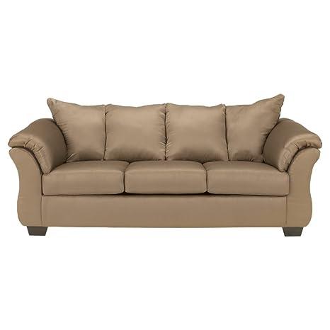 Ashley Furniture Signature Design - Darcy Contemporary Microfiber Sofa - Mocha