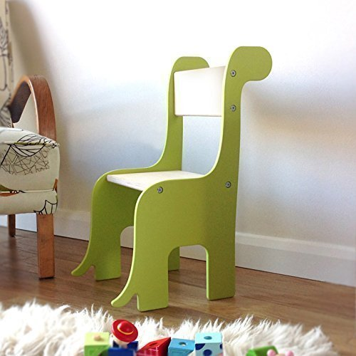 Handmade wooden Brontosaurus Dinosaur Children's Chair. Available in a choice of colours. Suitable for 18 months - 8 years.
