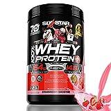 Six Star Elite Series 100% Whey Protein Powder Plus Muscle Builder, 907g Ultra-Pure Whey Protein Powder, Strawberry, 2 Pound For Sale