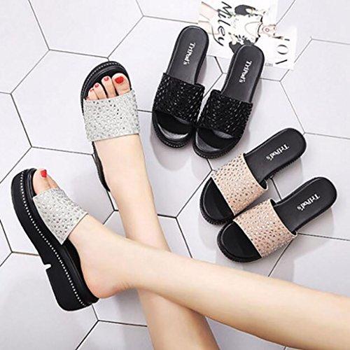planas moda Sandalias 36 antideslizantes antideslizantes y y Color zapatillas sandalias Tamaño mujer zapatillas veraniega y sandalias de cuña de de moda B sandalias Sandalias A Sandalias de 14pqfUww