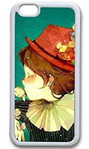 Funny Clown Thanksgiving Halloween Masterpiece Limited Design TPU White Case for iphone 6 by Cases & Mousepads