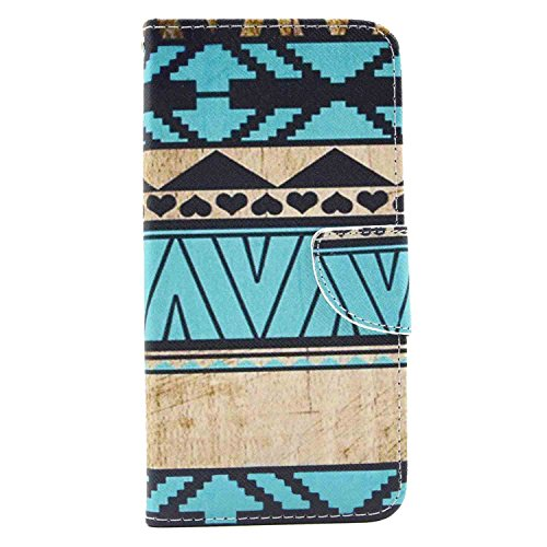 Mococase Colorful Pattern Pu Leather Wallet Case Stand Cover for Iphone 6 Plus
