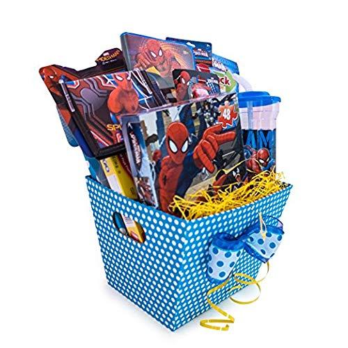 Christmas Gift Basket Ideas For Kids.Spiderman Christmas Gift Baskets For Kids Full Of Activities
