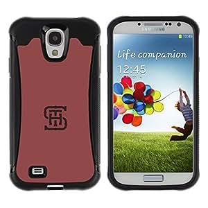 Suave TPU GEL Carcasa Funda Silicona Blando Estuche Caso de protección (para) Samsung Galaxy S4 IV I9500 / CECELL Phone case / / S H T initials letters maroon red minimalist /