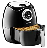 Chefman Air Fryer with Adjustable Temperature Control for the Perfect Result in Frying a Variety of Foods, Cool-to-Touch Exterior and 2.6L Fryer Basket Capacity, RECIPE BOOK Included, Black – RJ38-OPP