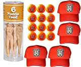 Caddyshack Danny Noonan Foursome Pack (Hats, Naked Lady Tees, Orange Bushwood Golf Balls)