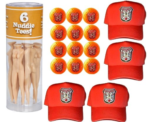 Caddyshack Danny Noonan Foursome Pack (Hats, Naked Lady Tees, Orange Bushwood Golf Balls) by A&R Collectibles (Image #5)