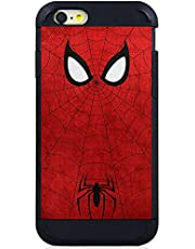 for iPod Touch 6 7 6th/7th Generation Hybrid Defender Case Cover Premium 9H Glass Screen Protector - Comic Cartoon Super Heros Spiderman Red