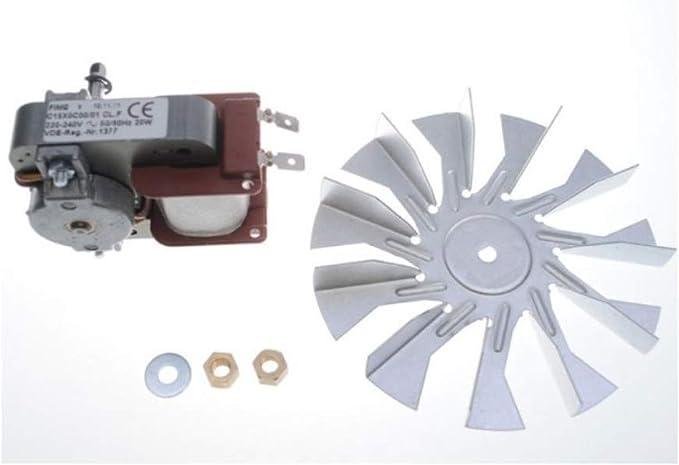 Motor ventilador horno completo Smeg 699250019 20 W original: Amazon.es: Hogar