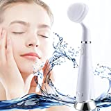 Clinique Cleansing Brush Offers - Argus Le Natural Silicone Facial Cleansing Brush-Electric Massager/Scrubber,Exfoliating Face Brush Microdermabrasion Pore Minimizer to Clean Skin + Help Get Rid of Acne – Dark Spots - and Blackheads