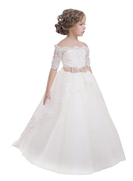 Good Prices hot-selling newest outlet sale princhar Tulle Flower Girl Dress Wedding Party Girl Dresses Toddler Dress