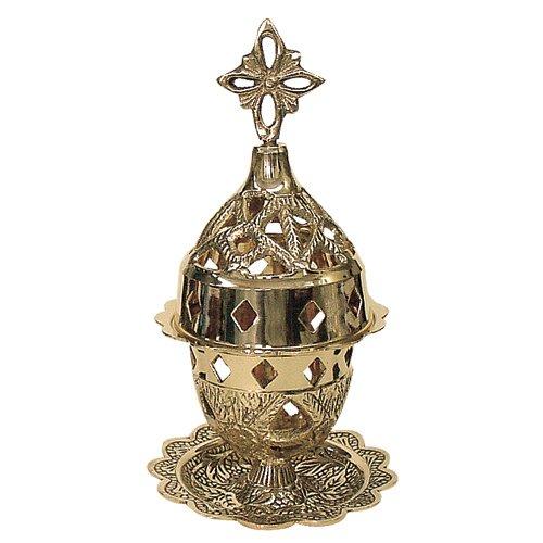Christian Orthodox Brass Vigil Lamp (9353 B)