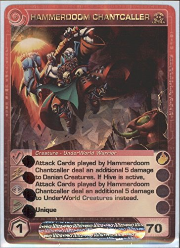 Chaotic HAMMERDOOM CHANTCALLER Ultra Rare Foil Card MAX Energy STAT of 70 Zenith of The Hive
