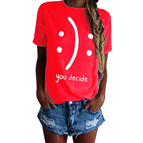 You Decide T-Shirt Funny Grahpic Design Casual Short Sleeve Top Tees Red 2XL -