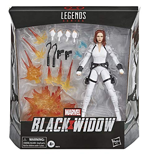 Marvel Hasbro Black Widow Legends Series 6-Inch Collectible Black Widow Action Figure Toy, Includes 12 Accessories, Ages…