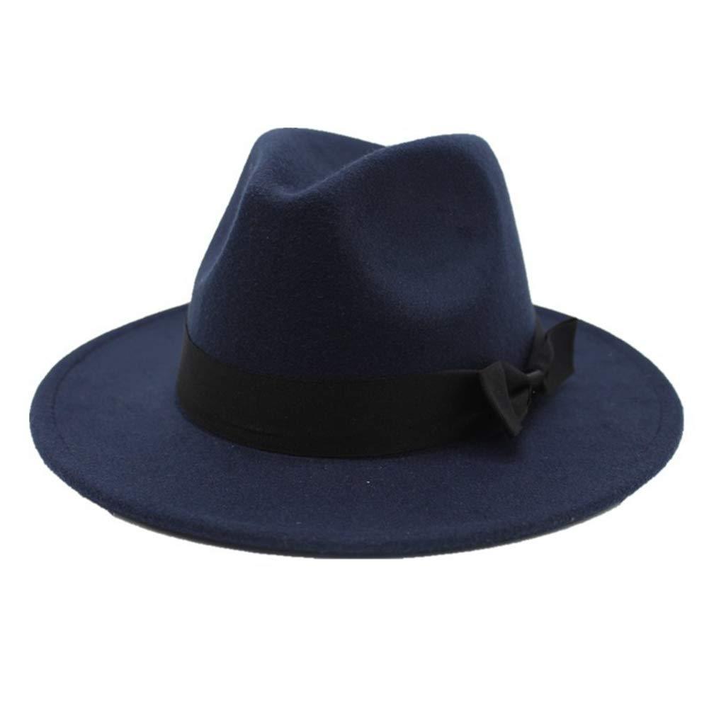 Unisex Wide Brim Fedora Hats Vintage Jazz Hat Classic Trilby Bowler Hat