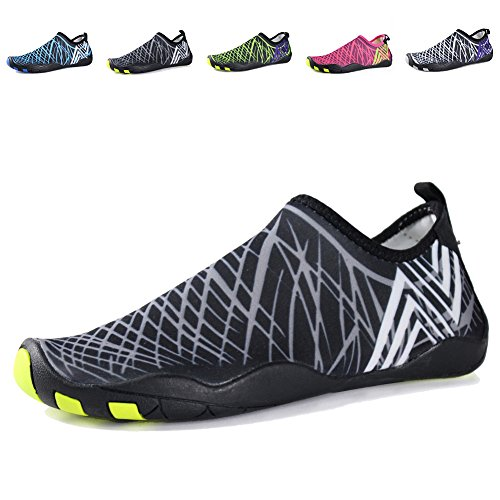 e5c4ef46f305 EQUICK Water Shoes Barefoot quick dry Aqua Sports Sneakers Slip on for Men  Women Kids Updated