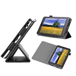 Poetic TriBook Leather Case for the Google Nexus 7 Android Tablet by Asus -Black