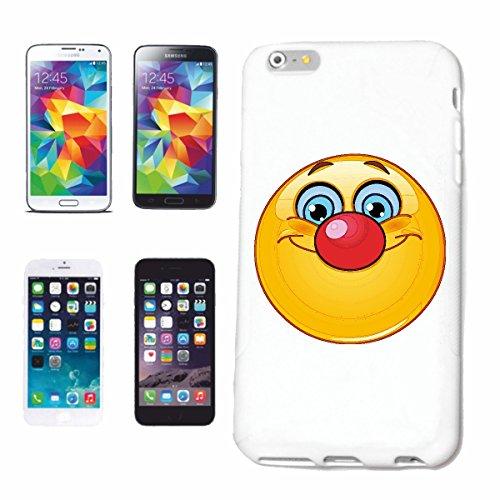 """cas de téléphone iPhone 7 """"SMILEY AS CIRCUS CLOWN """"SMILEYS SMILIES ANDROID IPHONE EMOTICONS IOS sa sourire EMOTICON APP"""" Hard Case Cover Téléphone Covers Smart Cover pour Apple iPhone en blanc"""