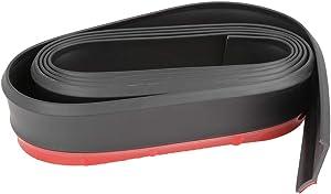 X AUTOHAUX 2.5m Univesal Front Bumper Lip Splitter Body Side Skirt Protector Black for Car