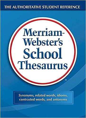 Websters school thesaurus merriam webster 9780877791782 amazon websters school thesaurus 1st edition m4hsunfo