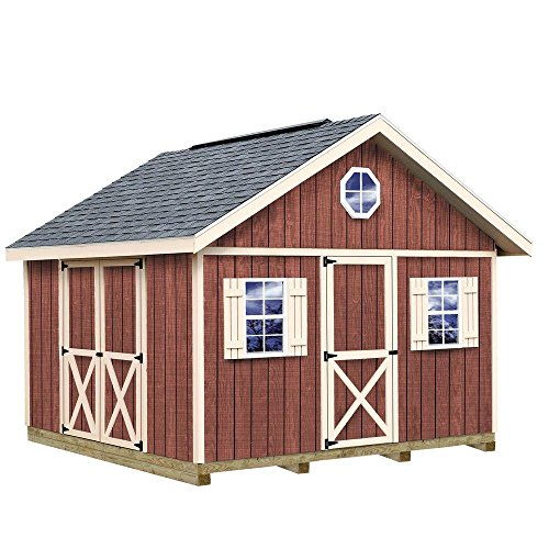 Fairview 12 ft. x 12 ft. Wood Storage Shed Kit with Floor including 4 x 4 - Shopping Fairview