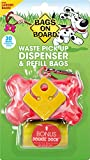 Bags on Board Marble Bone Dispenser, Pink, 30 Bags