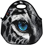 Best ICOLOR Kid Lunches - Blue Eye Leopard Thermal Neoprene Waterproof Kids Insulated Review