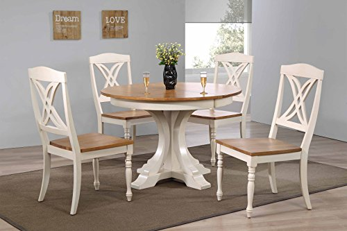 (Iconic Furniture 5 Piece Deco Butterfly Back Dining Set, 45