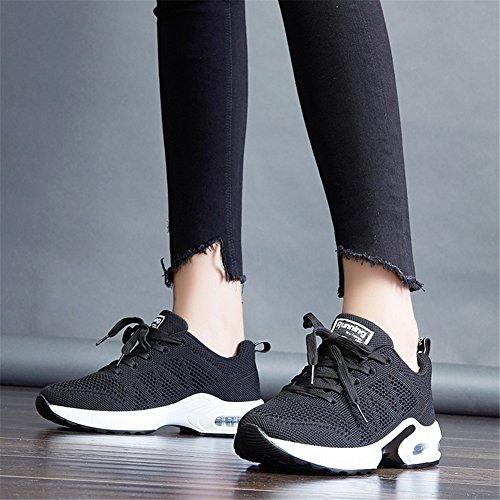 Running MIMIYAYA Damen Freizeit Schnürer Schwarz und Air Bequeme Laufschuhe Mode Laufschuhe Sportschuhe Shoes rOCnw0rHq