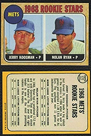 1968 Topps 177 Nolan Ryan Rookie Card Mets Hof Reprint