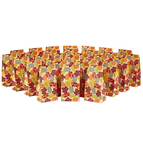 Hallmark Fall Leaves Party Favor and Wrapped Treat Bags (30 Ct.) for Autumn Parties, Halloween, Thanksgiving, Friendsgiving and More