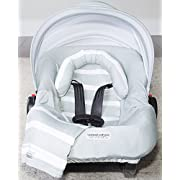 Carseat Canopy 5 pc Whole Caboodle Jersey Stretch - Gray Stripes