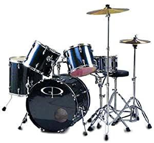 groove percussion performer gp200 metallic blue 5 pc full size drum set musical. Black Bedroom Furniture Sets. Home Design Ideas