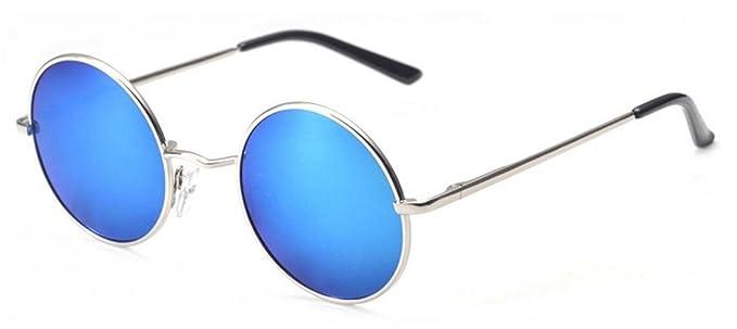 Gafas de sol polarizadas para hombre marco redondo UV400 (azul)