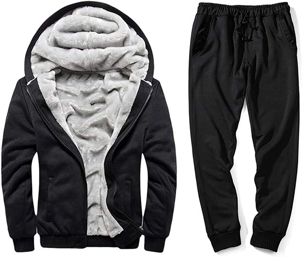PASOK Mens Casual Tracksuit Full Zip Running Jogging Athletic Sports Jacket and Pants Set