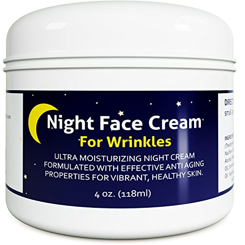 (Anti Aging Night Cream Moisturizer for Dry Skin - Firming Cream For Women & Men - Best Anti Wrinkle Cream for Sensitive Skin - Collagen Booster - All Natural Skin Care with Antioxidants & Shea Butter)