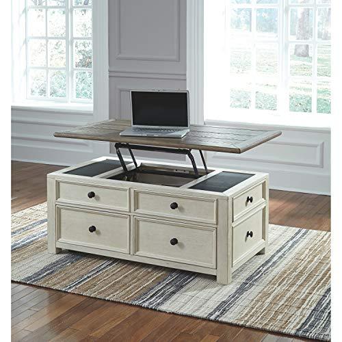 Ashley Furniture Signature Design - Bolanburg Liftside Cocktail Table, Two-Tone