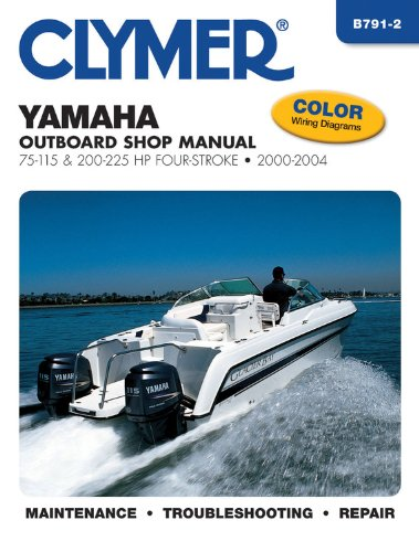 Yamaha Four-Stroke Outboards 75-225 HP 2000-2004 (CLYMER MARINE REPAIR)